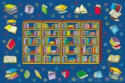 3x5 Area RUG Educational  Book Reading Time  Library Books B
