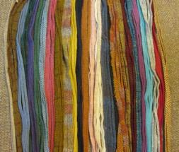 #4 Multiple Colors Mix  100  Wool Strips for  Rug Hooking or