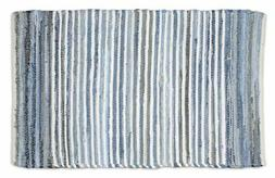 DII Contemporary Reversible One of A Kind Area Rug, Rag Rug