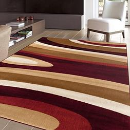 "Rugshop Abstract Contemporary Modern Area Rug, 3'3"" x 5'3"","