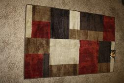 "Maples Rugs Accent Rug  30"" x 46"" Latex Backing Brown Ta"