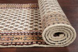 All-Over IVORY Botemir Oriental Rug Hand-Knotted Stair Runne