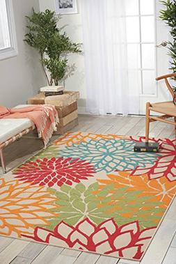 Nourison Aloha  Green Rectangle Area Rug, 3-Feet 6-Inches by