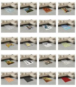 Ambesonne Area Rug Flat Woven Accent for Bedroom Living Room