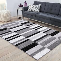 area rug French Chateau#35 Geometric pattern gray soft pile