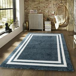 Area rug Nwprt #68 modern blue and white soft pile sizes 2x3