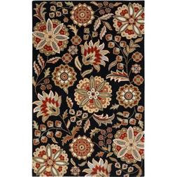 Surya Athena ATH-5017 Transitional Hand Tufted 100% Wool Bla