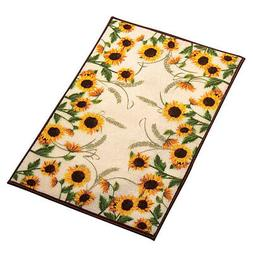 "Collections Etc Autumn-inspired Sunflower Harvest Rug 20"" X"