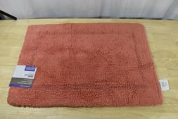 Better Homes & Gardens Cotton Reversible Bath Rug Coral 17""