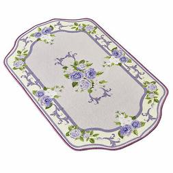 blooming roses ivory bordered non slip accent
