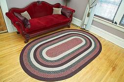 BRAIDED JUTE EARTH RUG CAPITOL EARTH RUGS 8 X 11 OVAL MANY C