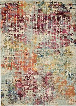 Nourison Celestial 9'X12' Pink And Multicolor Area Rugs 0994