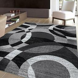 Rugshop Contemporary Modern Circles Abstract Area Rug, 6' 6""