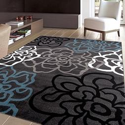 Rugshop Contemporary Modern Floral Flowers Area Rug, 3'3 x 5