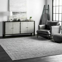 nuLOOM Contemporary Modern Solid and Striped Sherill Area Ru