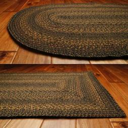 Country Jute Braided Area Throw Rugs Oval Rectangle 20x30 -