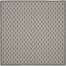 Safavieh Courtyard Collection CY6919-246 Anthracite and Beig