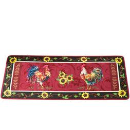 Collections Etc Cushioned French Country Sunflower Rooster 4
