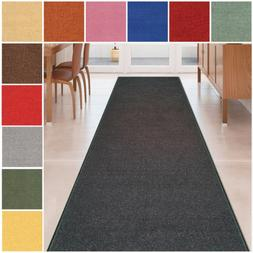 Custom Size Black Solid Plain Rubber Backed Non-Slip Hallway