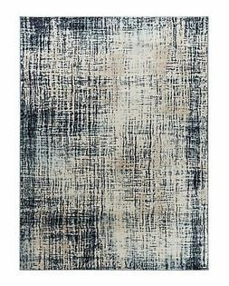 Elite Collection Style 01 Beige Blue Abstract Rug with Soft