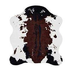 MustMat Faux Cowhide Rug 4.6'x5.2' Cute and Soft Animal Prin