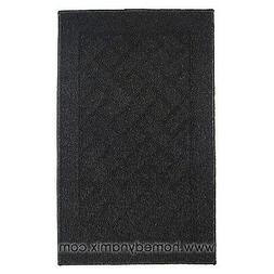 Home Dynamix Floor Mat Area Accent Rug: Black, Non-Skid Back