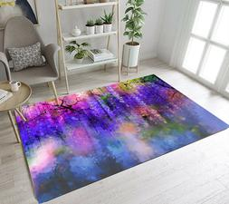 Floor Mat Soft Area Rugs for Bedroom Living Room Colorful Wa
