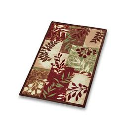 Foliage Patchwork Accent Throw Rug, Silhouette Branches in R