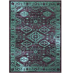 Maples Rugs Area Rugs,  5' x 7' Non Slip Padded Large Rug fo