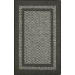 Maples Rugs Graphite/Gray Indoor Throw Rug (Common: 3 x 4; A