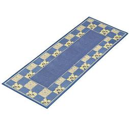 Hadley Patchwork Floral Accent Runner Rug with Non-skid Back