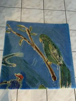 Hand Tufted 100%  Wool rug - Nature Pattern - Birds, Forest,