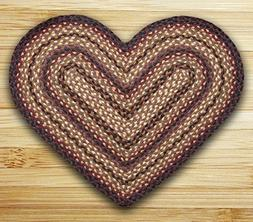 """Earth Rugs HC-371 Heart Shaped Rug, 20 by 30"""" , Black Cherry"""