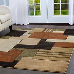 Home Dynamix Tribeca Mason Area Rug 3 Piece Set, Abstract Br