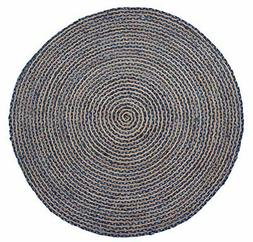 HF by LT Valencia Rug Collection Braided Round Area Rug, 5'
