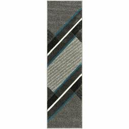 """Safavieh Hollywood 2'3"""" x 10' Runner Rug in Gray and Teal"""