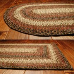 Homespice Decor Jute Braided Area Rug Russet Red Black