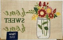 KITCHEN ACCENT RUG  HOME SWEET HOME, FLOWERS IN VASE, Nouris