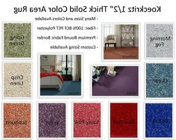"""Koeckritz 1/2"""" Thick Solid Color Area Rugs with Multiple Siz"""