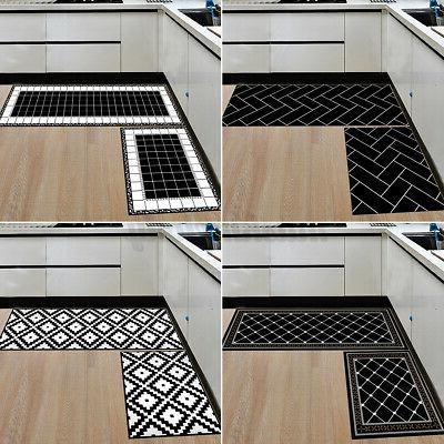 2 Home Kitchen Floor Mat Doormat Carpet Set Decor