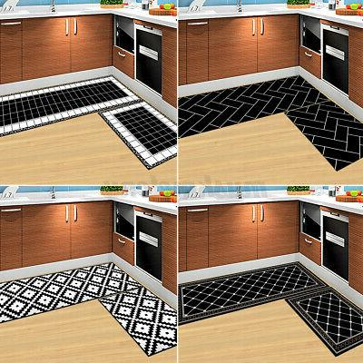 2 pieces home kitchen floor mat doormat