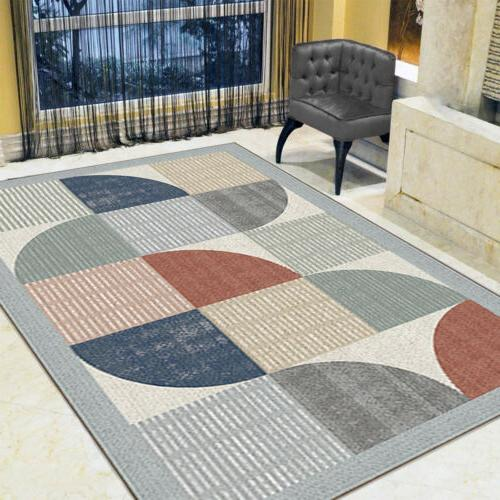 Contemporary Modern Soft Area Rugs Nonslip Velvet Room Rug