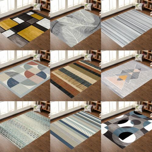 contemporary modern soft area rugs nonslip velvet