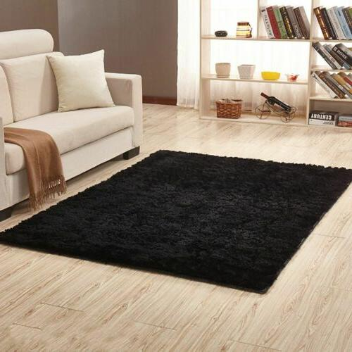 Fluffy Rugs Anti-Skid Shaggy Area Rug Carpet Rectangle Floor