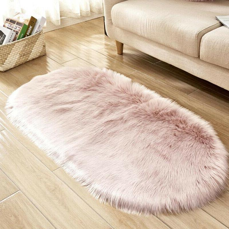 Fluffy Rugs Area Anti-Skid Dining Carpet Home Bedroom Mat