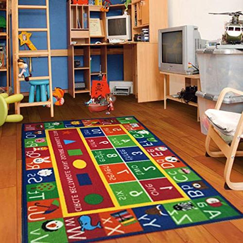"""Numbers Area Rug Area Non Backing Furnishmyplace 3'3"""" 5' Rectangle"""
