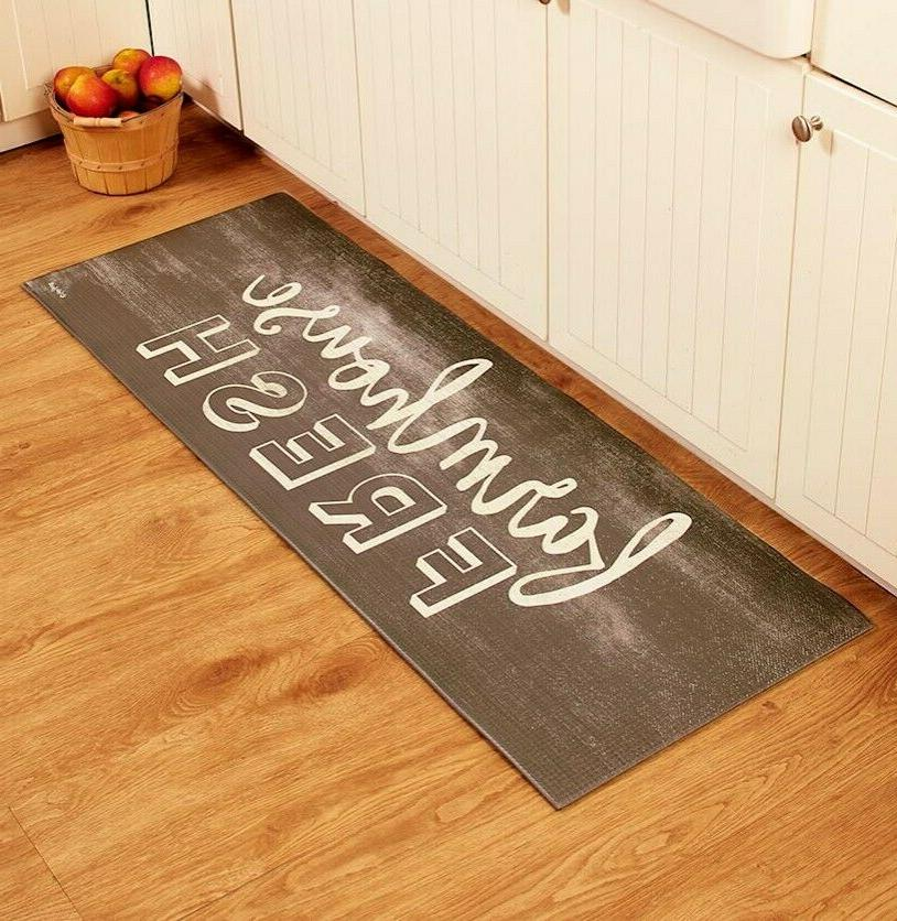 Kitchen Runner Rug Mat Country Style Rustic Farm House Fresh