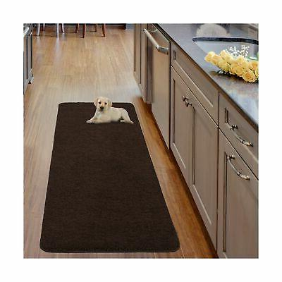 Luxury Solid Runner Rug with Non-Slip/Rubber-Backing Bathroo