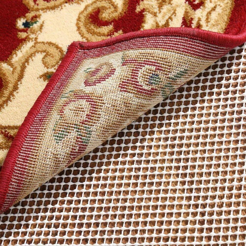 NO SLIP AREA RUG PAD RUNNER PROTECT FLOOR WHILE SECURING MAK