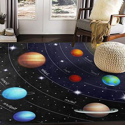 ALAZA Outer Space Solar System Area Rug Rugs for Living Room
